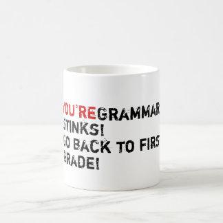 You're Grammar Stinks! Mugs
