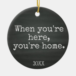 You're Home - Foster Care Adoption Gifts Ceramic Ornament