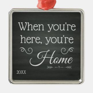 You're Home - Foster Care Adoption Gifts Metal Ornament