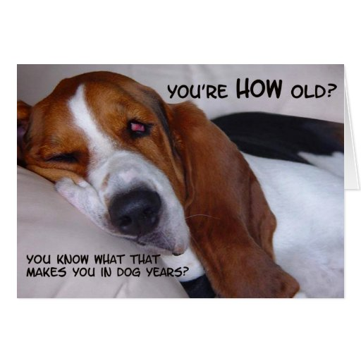 You're how old? greeting card