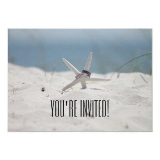 """You're Invited Beach Wedding Invitation 5"""" X 7"""" Invitation Card"""