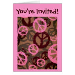 You're Invited!-Card-Peace Signs/Camo Look Design Greeting Card