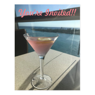 You're Invited - Cosmo Postcard