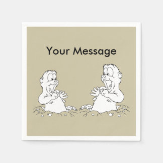 You're Invited! Groundhog Day Party Paper Napkins Paper Napkin