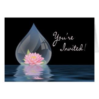 YOU'RE INVITED -MULTI-PURPOSE - LOTUS IN WATERDROP CARD
