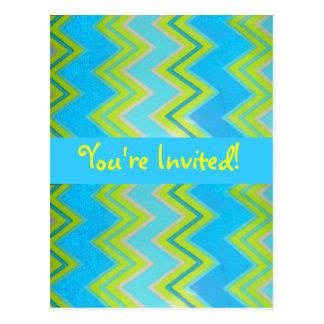 You're Invited!-Postcard-Zig Zag Design