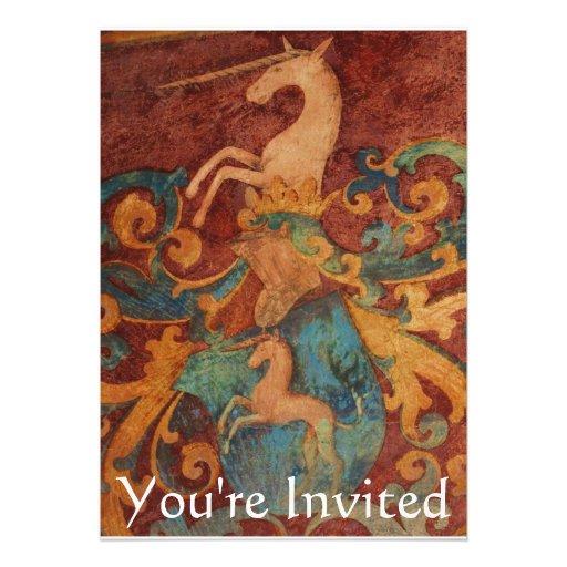 You're Invited Renaissance  White unicorn Invite