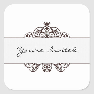 You're Invited Square Sticker