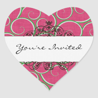 You're Invited Heart Sticker