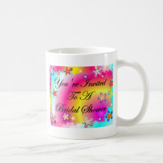 You're Invited To A Bridal Shower Basic White Mug