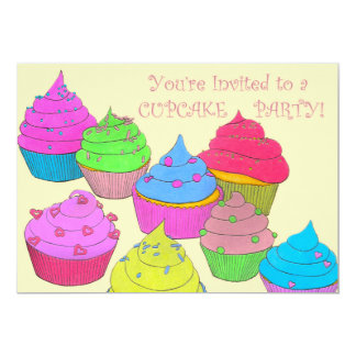 You're Invited to a Cupcake Party Invitation Card