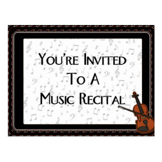 You're Invited To A Music Recital Postcard