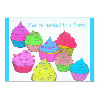 You're Invited to a Party Invitations ~ Cupcakes