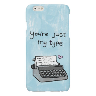 'You're Just My Type' Typewriter - love heart case