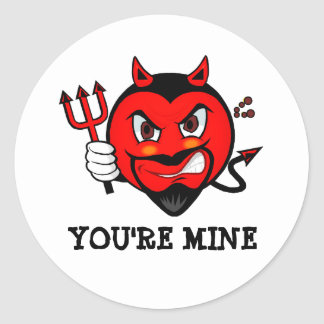 You're Mine Devil Sticker