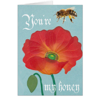You're my honey greeting card