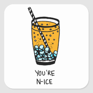 You're N-Ice Square Sticker