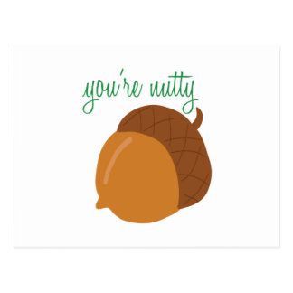 You're Nutty Postcard