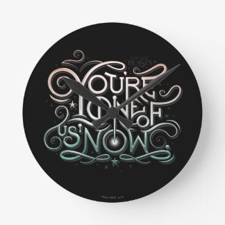 You're One Of Us Now Colorful Graphic Wall Clocks
