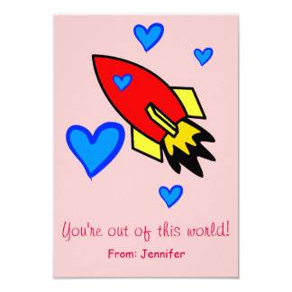 You're out of this world Valentine's Day Card 9 Cm X 13 Cm Invitation Card