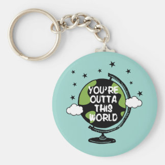 You're Outta This World Valentine's Day Keychain