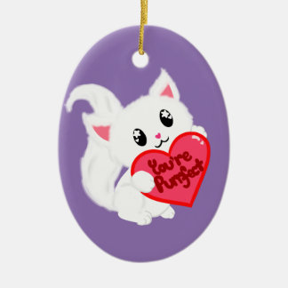 You're Purrfect Kitty Ceramic Oval Decoration