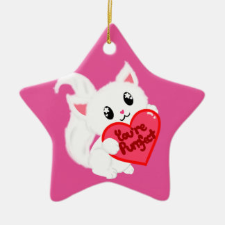 You're Purrfect Kitty Ceramic Star Decoration