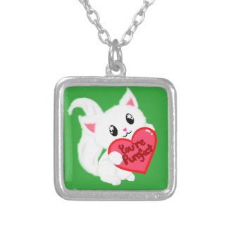 You're Purrfect Kitty Silver Plated Necklace