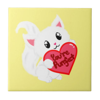 You're Purrfect Kitty Small Square Tile