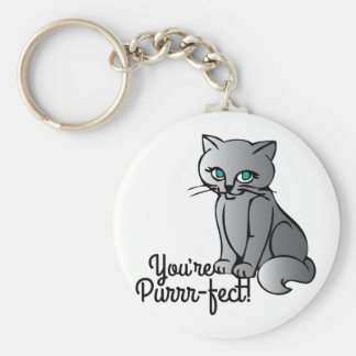 Youre Purrr-fect Basic Round Button Key Ring