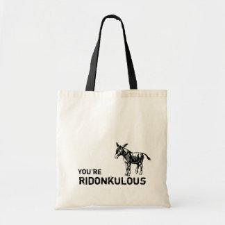 You're Ridonkulous! Vintage cute donkey tote.
