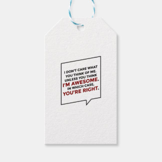You're Right I'm Awesome Gift Tags
