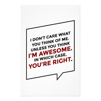 You're Right I'm Awesome Stationery