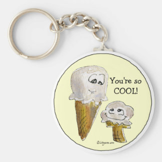 You're so COOL Ice Cream Faces Keychain
