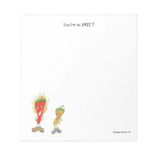 You're so hot red pepper guy notepad