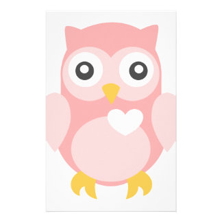 You're Such a Hoot in Pink Stationery Paper