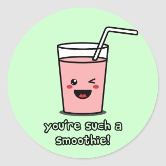 You're Such a Smoothie Round Stickers