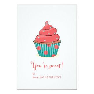 You're Sweet Cupcake Valentine's Card 9 Cm X 13 Cm Invitation Card
