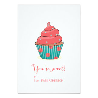 You're Sweet Cupcake Valentine's Card