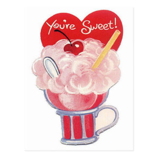 You're Sweet Vintage Retro Soda Card Post Card