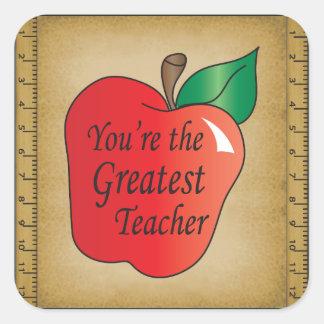 You're the Greatest Teacher Square Sticker