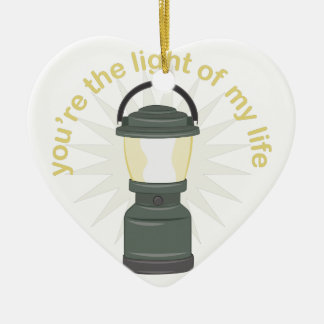 Youre The Light Ceramic Heart Decoration