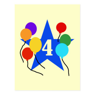 You're the Star 4th Birthday Tshirts and Gifts Post Card