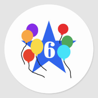 You're the Star 6th Birthday Classic Round Sticker