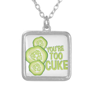 Youre Too Cuke Silver Plated Necklace