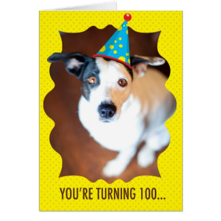 You're Turning 100th Birthday Card