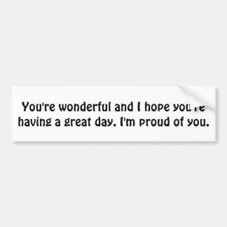 You're Wonderful Bumper Sticker