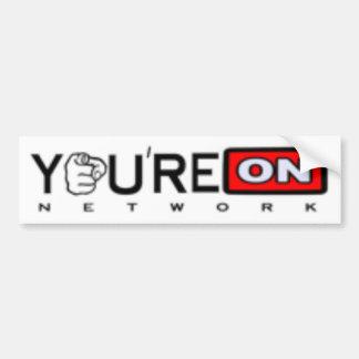 YoureOn Dot Net Black Logo Bumper Stickers