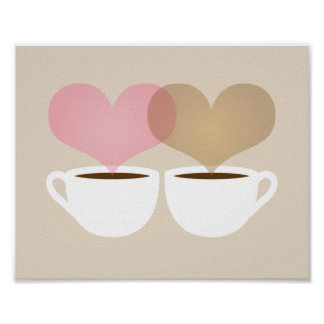 Yours and Mine Coffee Mugs in Love Art Print
