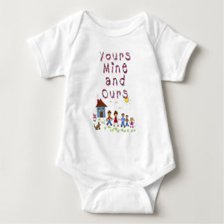 Yours Mine and Ours Blended Family Stepmom Stepdad Baby Bodysuit